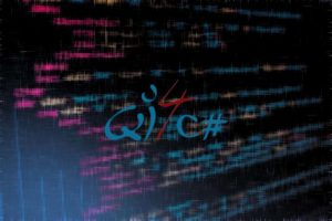 QI4CS - Blurred code as a background